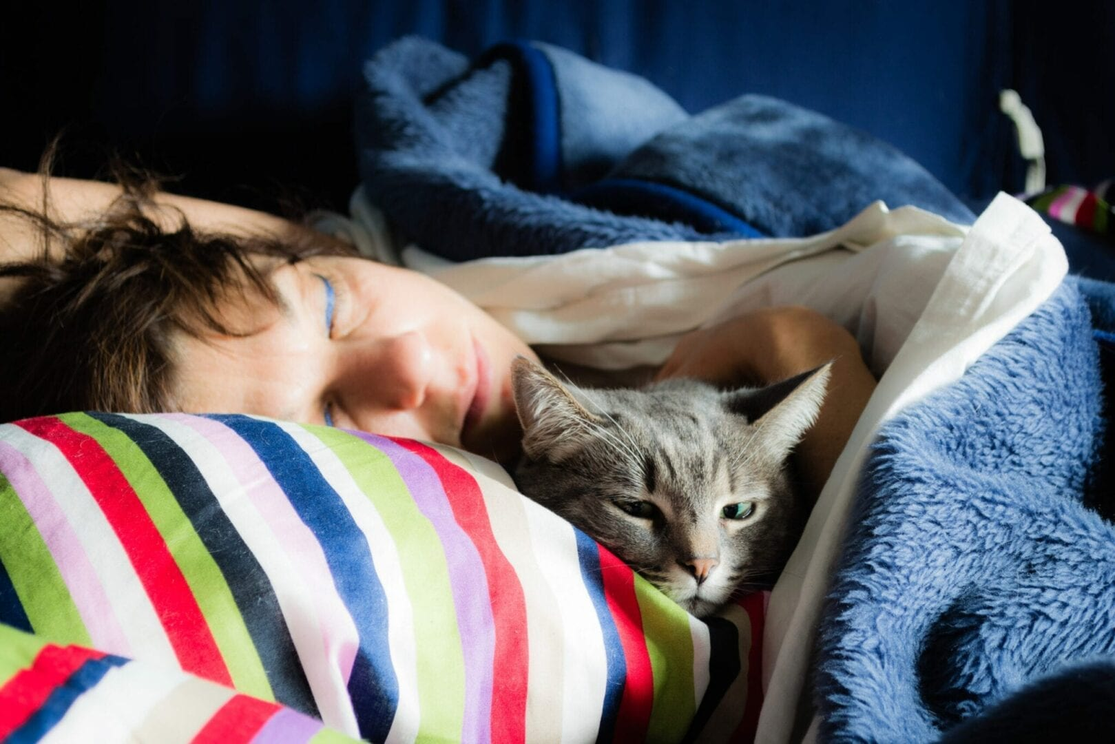 why do cats sleep on your neck?
